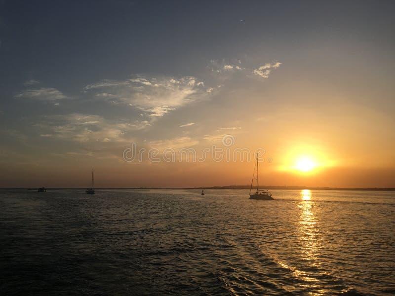 Portugal solnedgång arkivbilder