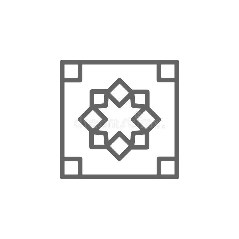 Portugal, tegels, ornamentpictogram Element van het pictogram van Portugal Dun lijnpictogram voor websiteontwerp en ontwikkeling, royalty-vrije illustratie