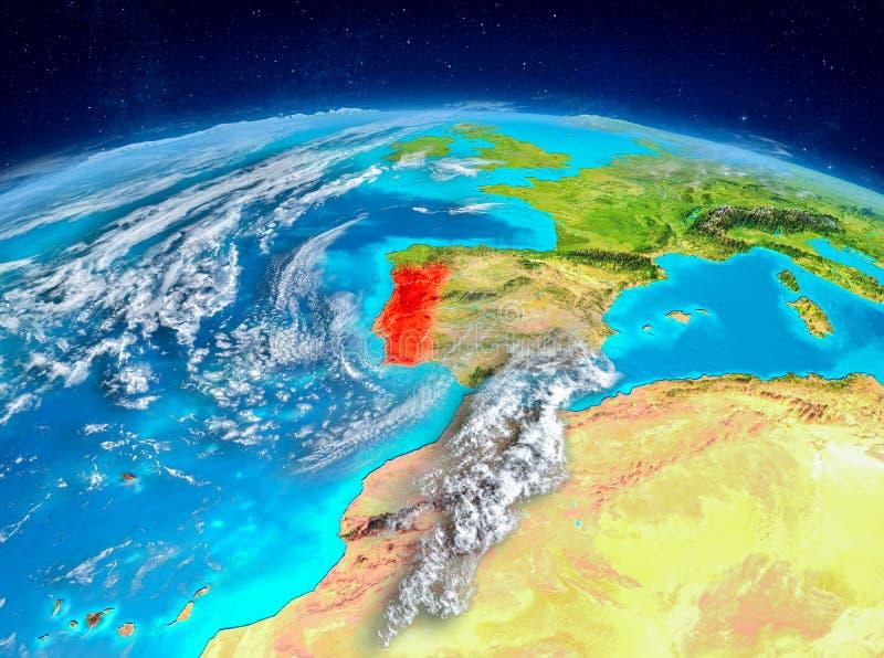 Portugal ter wereld royalty-vrije illustratie