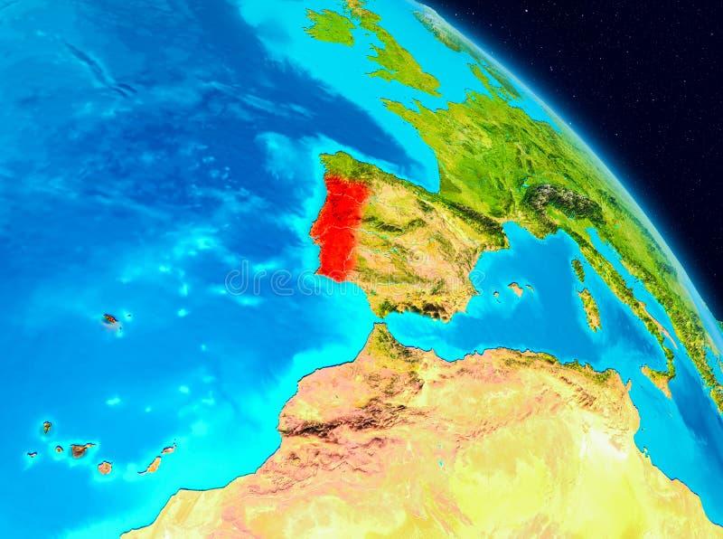 Portugal ter wereld stock illustratie