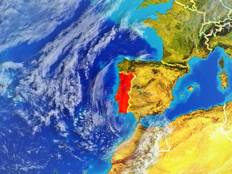 Portugal ter wereld van ruimte stock illustratie