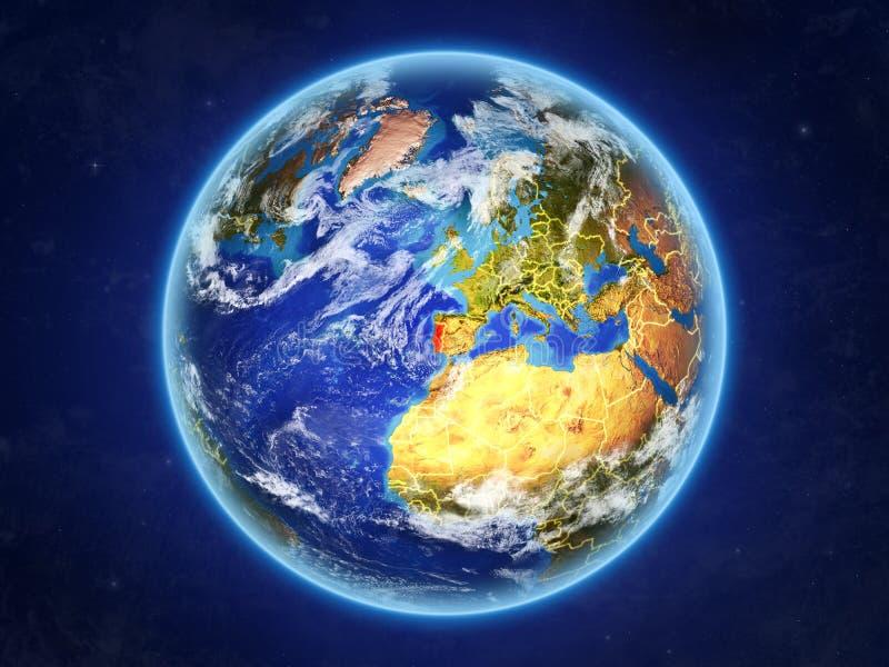 Portugal ter wereld van ruimte royalty-vrije illustratie