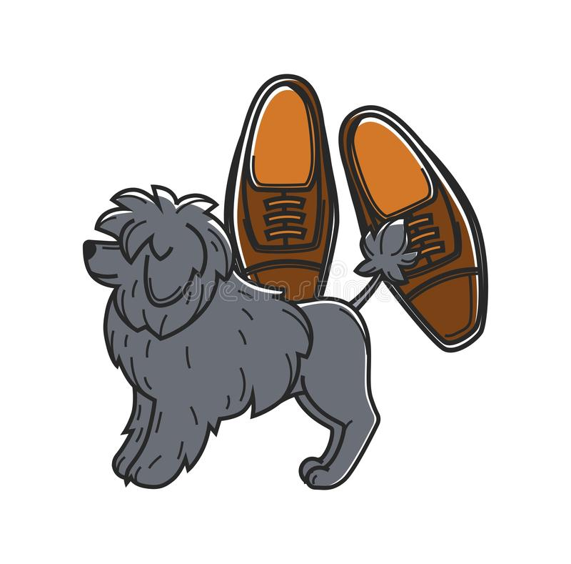 Portugal travel symbols vector culture landmarks. Portugal travel symbols and culture landmarks. Vector icon of Portuguese dog and shoes vector illustration
