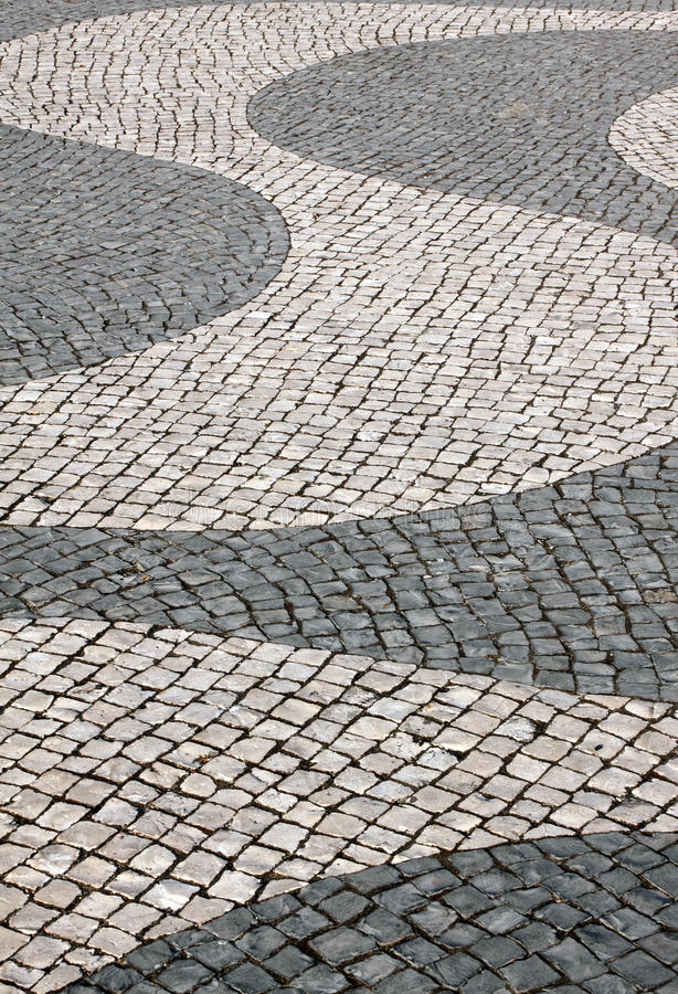 Free Portugal Typical Cobble Stone Paving Royalty Free Stock Image - 22649626