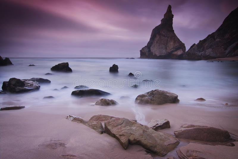 Portugal: Ursa strand royaltyfri foto
