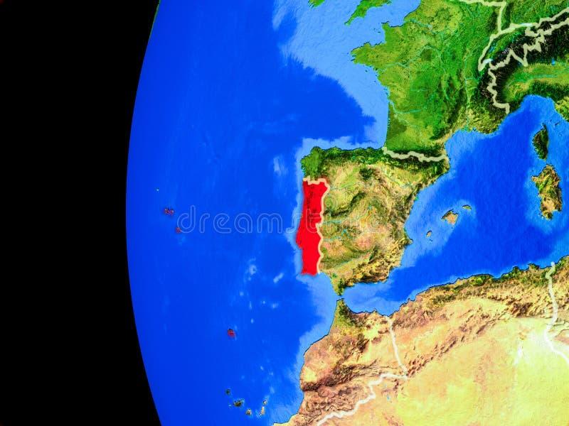 Portugal van ruimte stock illustratie