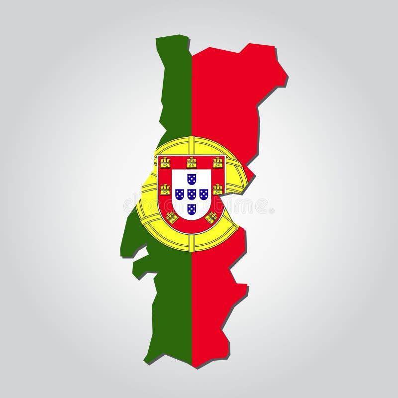 Portugal ?versiktsflagga vektor illustrationer