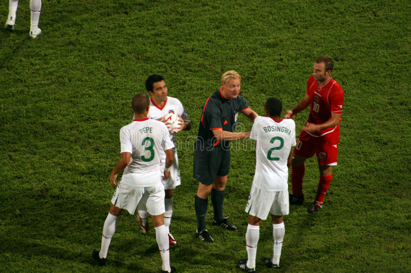 Portugal versus Malta FIFA World Cup Qualifier. South Africa, 2010 royalty free stock image