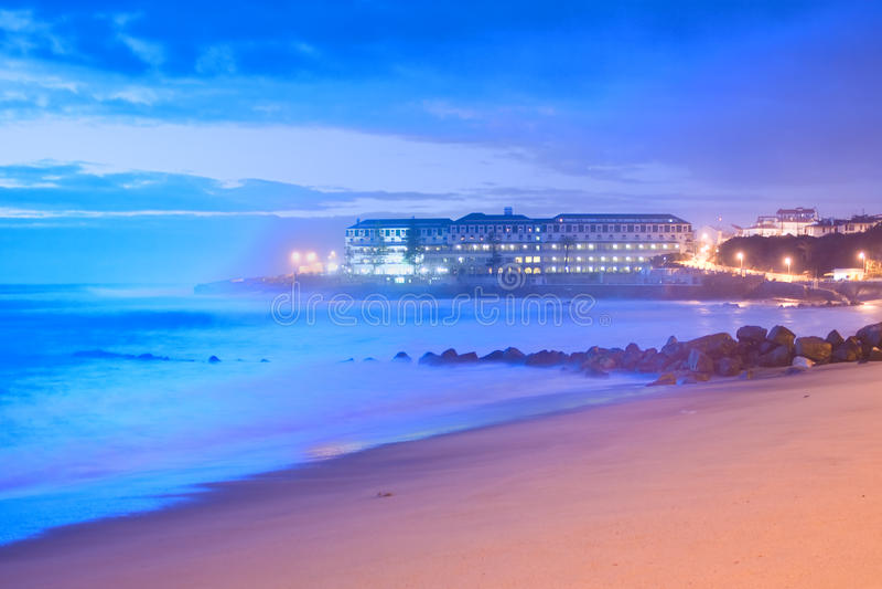 Portugalczyk plaża obraz royalty free