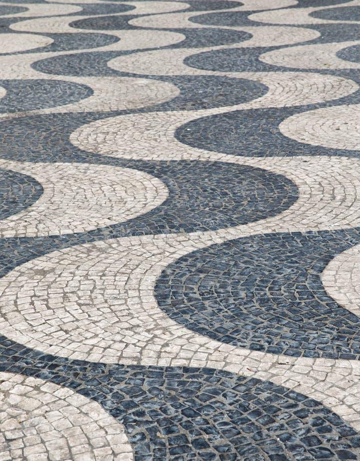 Portugalia abstrakta płytki bruku wzory jako plecy zdjęcie stock