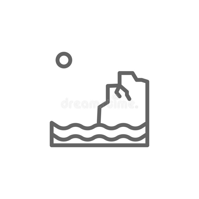 Portugalia, Algarve ikona Element Portugalia ikona Cienka kreskowa ikona dla strona internetowa projekta i rozwoju, app rozw?j ilustracja wektor