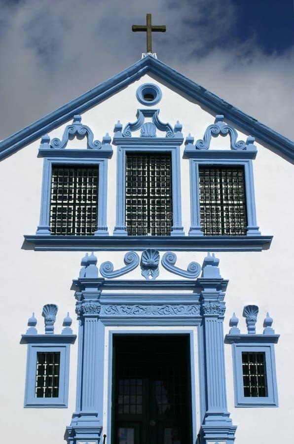 Portugalia Azores wysp Terceira barokowy kościół - Angra robi Heroismo zdjęcie stock