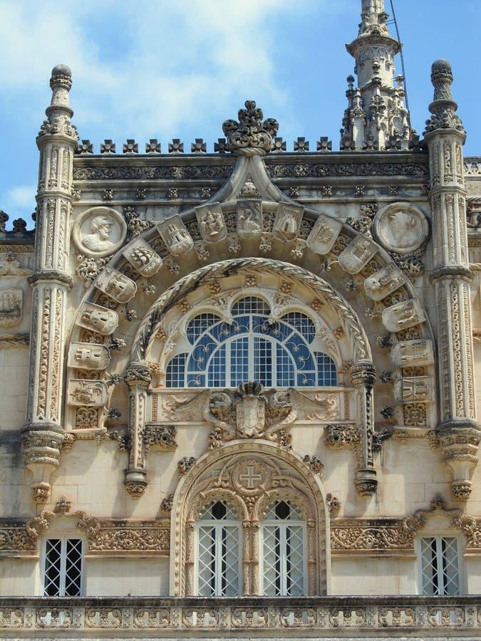 Portugalia, Bussaco pałac façade - zdjęcia royalty free
