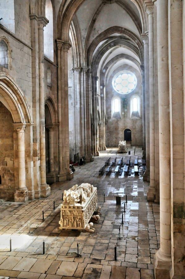 Portugalia, dziejowego i pisturesque Alcobaca monaster, fotografia royalty free