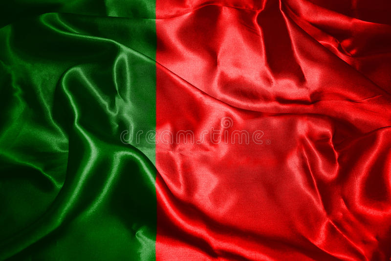 Portugalia flaga państowowa falowanie W wiatru 3D ilustraci zdjęcia royalty free
