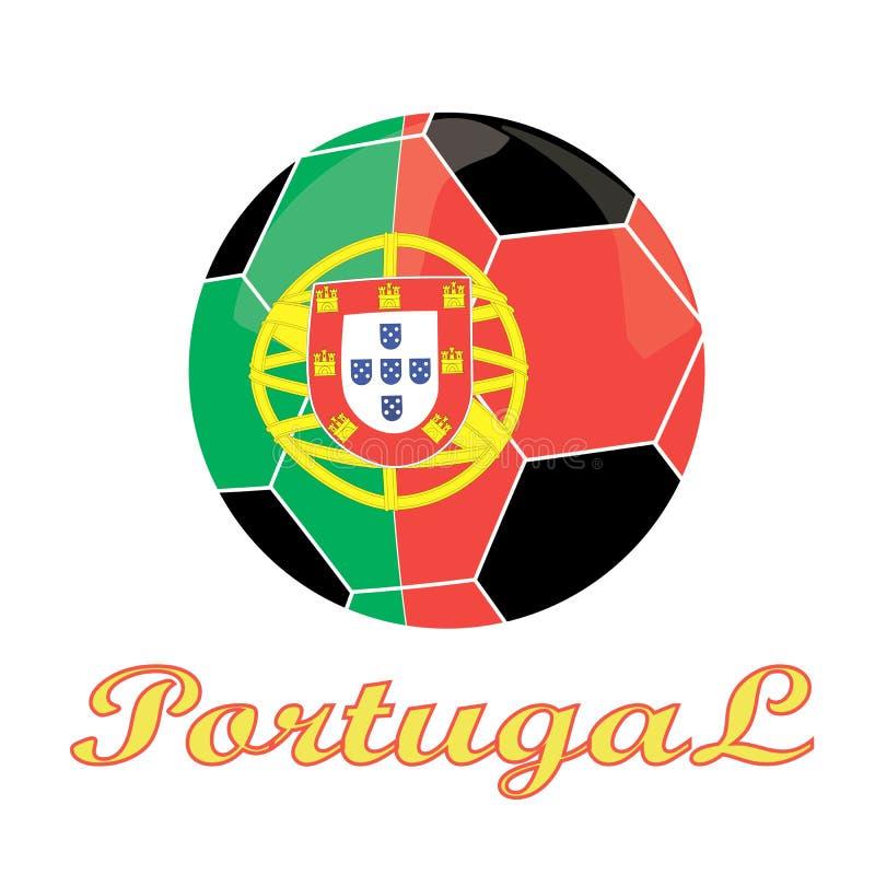 Portugalia futbolu ikona zdjęcie stock