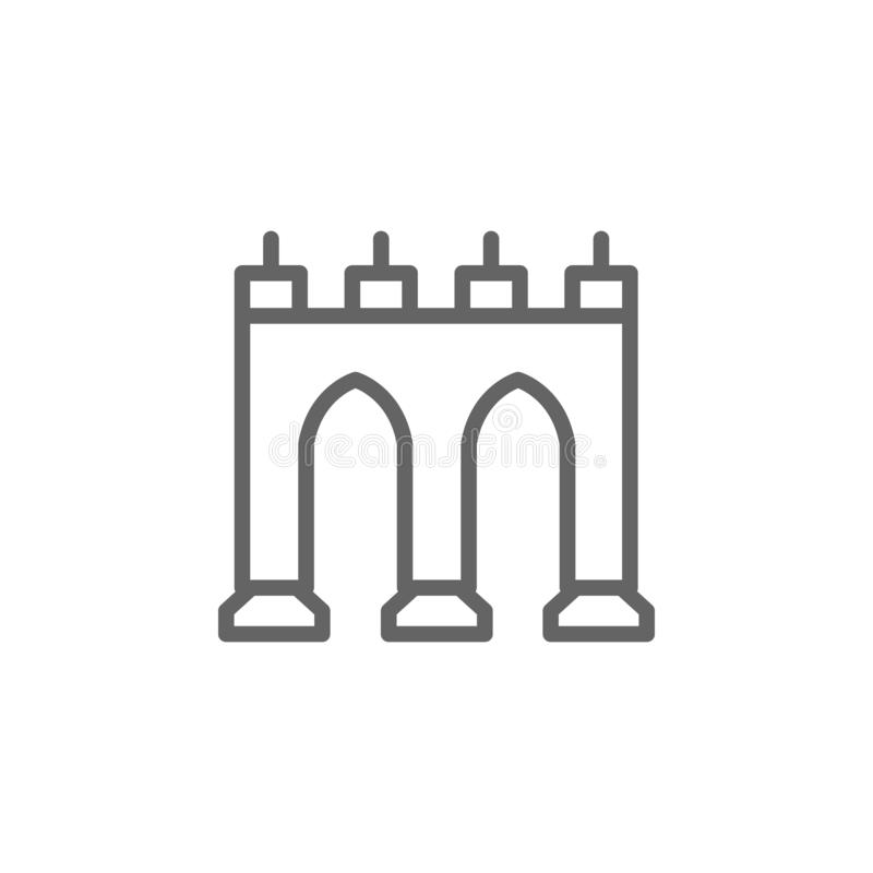 Portugalia, Guas liwr?w ikona Element Portugalia ikona Cienka kreskowa ikona dla strona internetowa projekta i rozwoju, app rozw? ilustracji