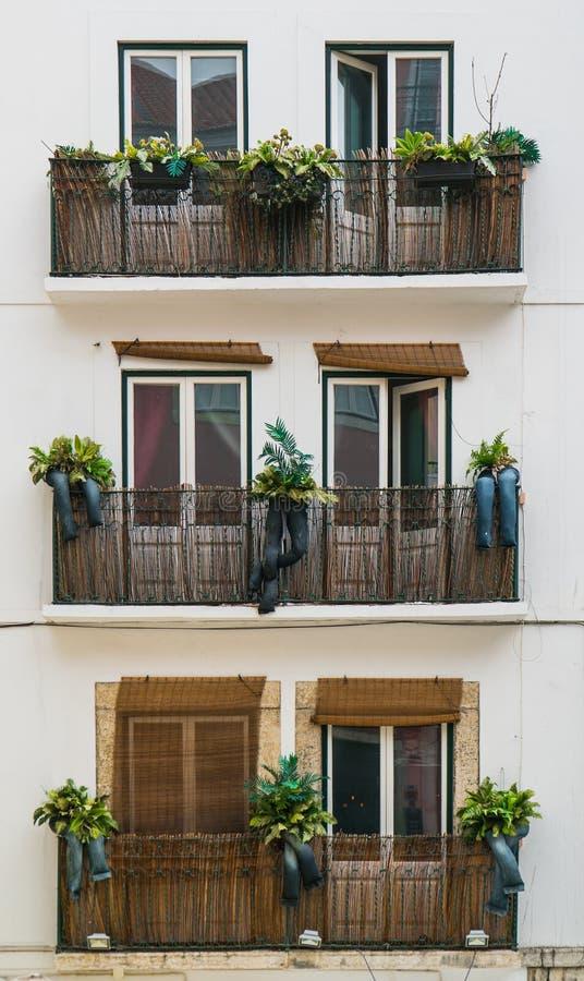 Portugalia klasyk Tafluje Historycznych drzwi zdjęcia stock