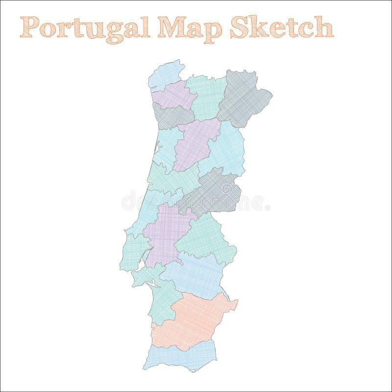 Portugalia mapa ilustracji