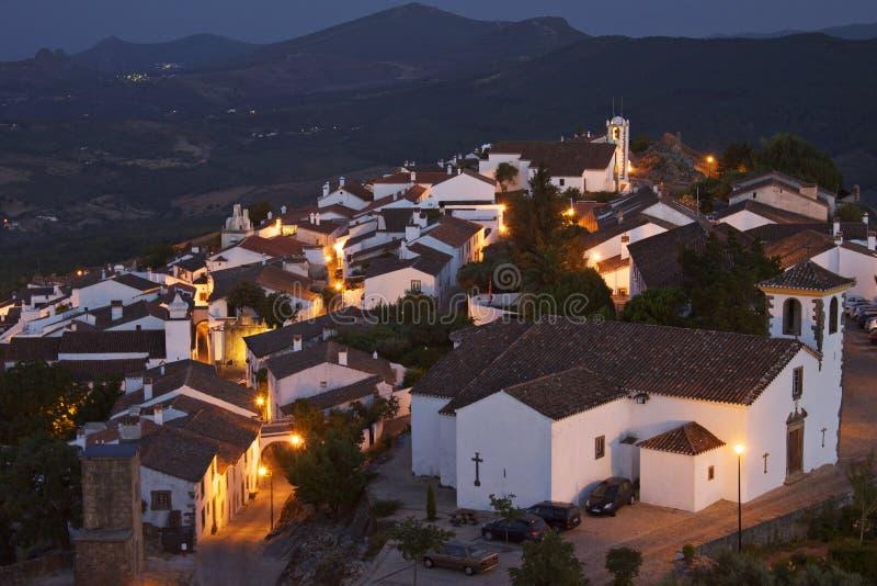 Portugalia: Marvao zmierzch obrazy royalty free