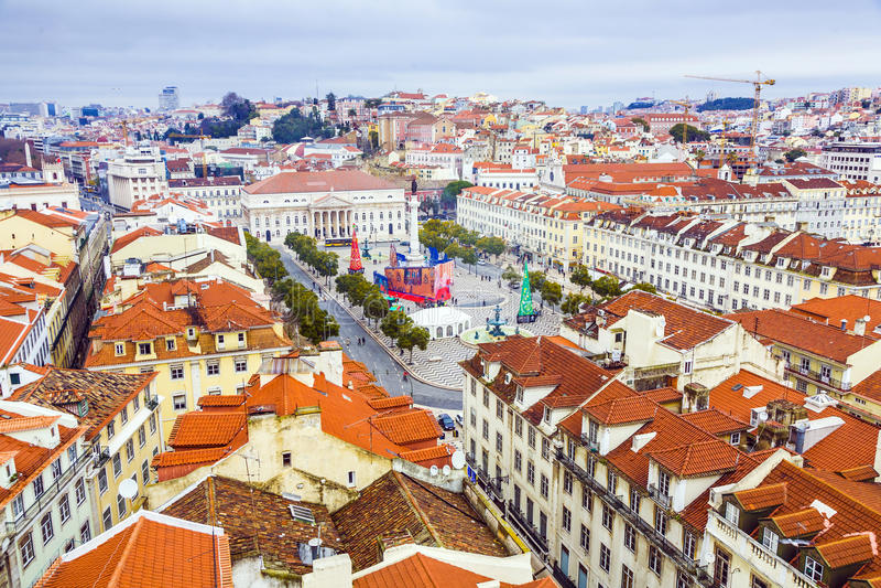 Portugalia. Panorama Lisbon od obraz stock