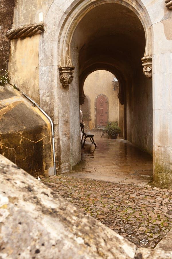 Portugalia, Pena pałac, Sintra, królewska siedziba książe Ferdinand obraz stock