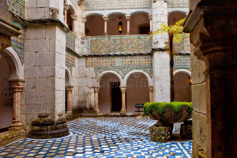 Portugalia, Pena pałac, Sintra, królewska siedziba książe Ferdinand zdjęcie stock