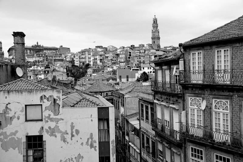 Portugalia. Porto miasto w czarny i biały obrazy stock