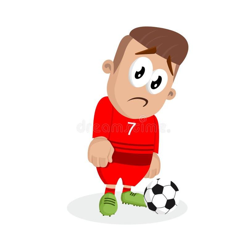 Portugalia tła i maskotki krajowa futbolowa smutna poza royalty ilustracja