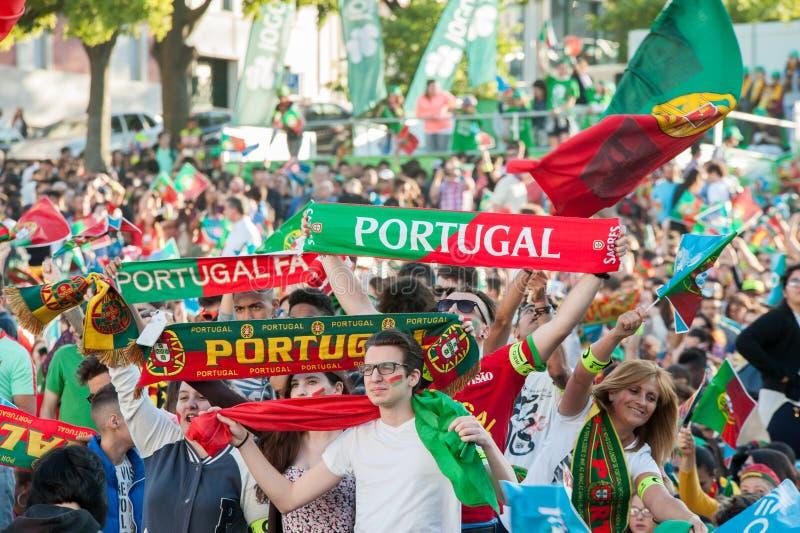 Portugalia - UEFA - europejczyk 2016 obrazy stock