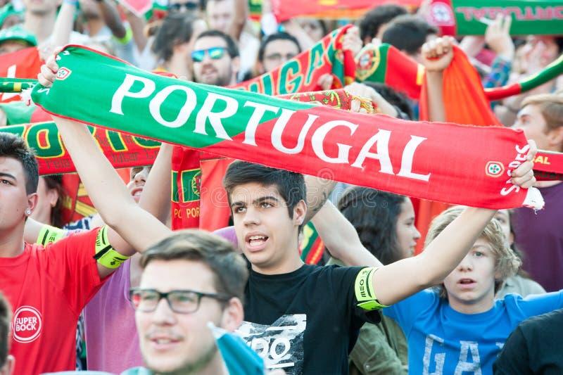 Portugalia - UEFA - europejczyk 2016 obraz royalty free