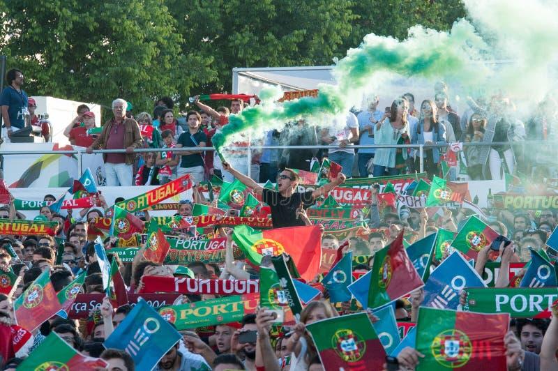 Portugalia - UEFA - europejczyk 2016 obrazy royalty free