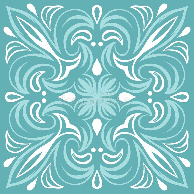 Portugalski azulejo ceramicznej płytki wzór ilustracji
