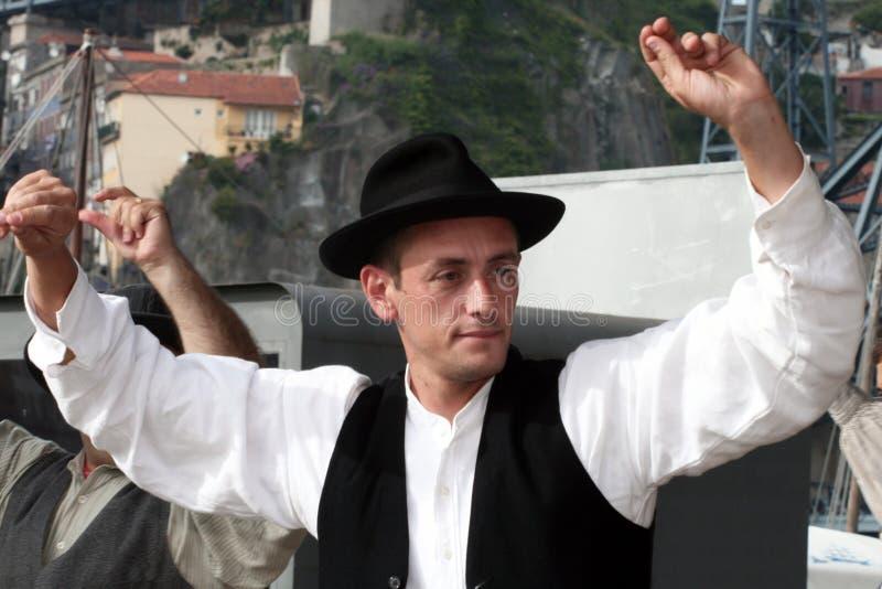 Portugalski folkloru tancerz obraz stock