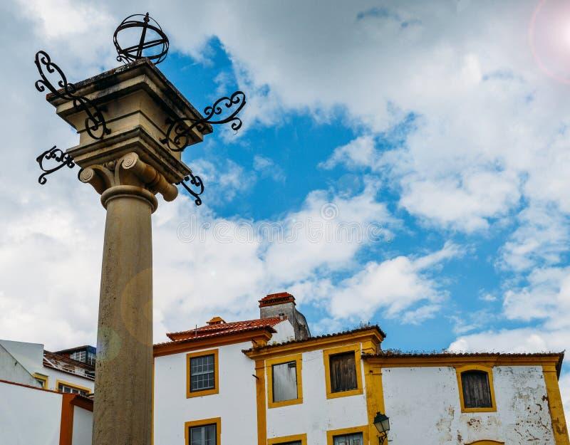 Portugalski pręgierz w Constancia fotografia stock