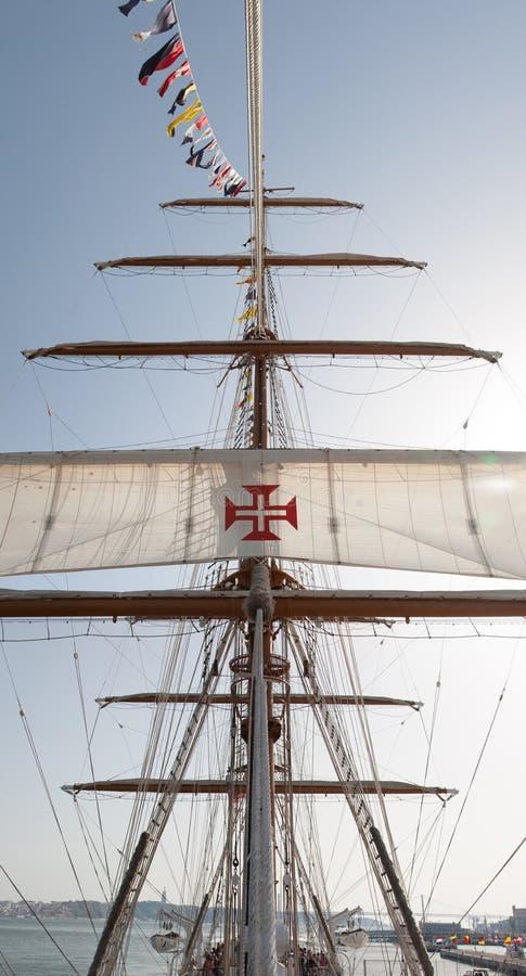Portugalski statek wojenny fotografia royalty free