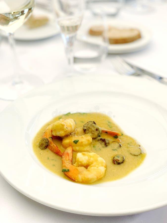 Portugalskie jedzenie podczas lunchu obrazy stock