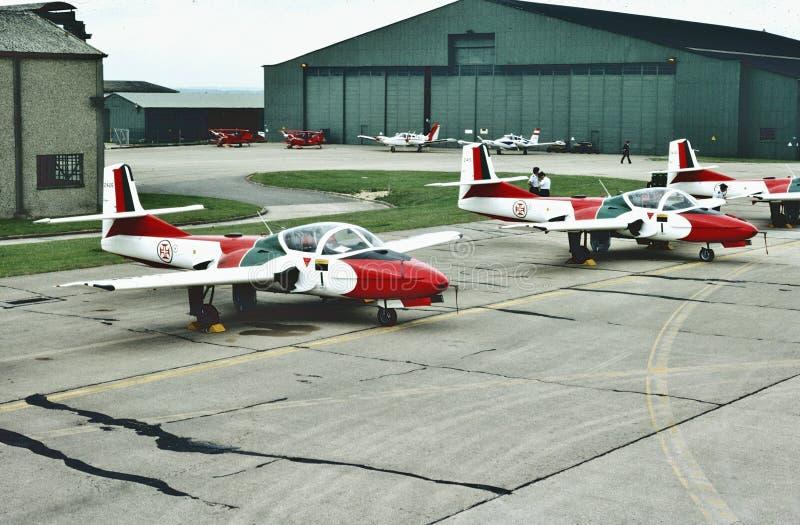 Portugalskiego siły powietrzne Cessna t-37C ` Tweety Ptasi ` obrazy royalty free