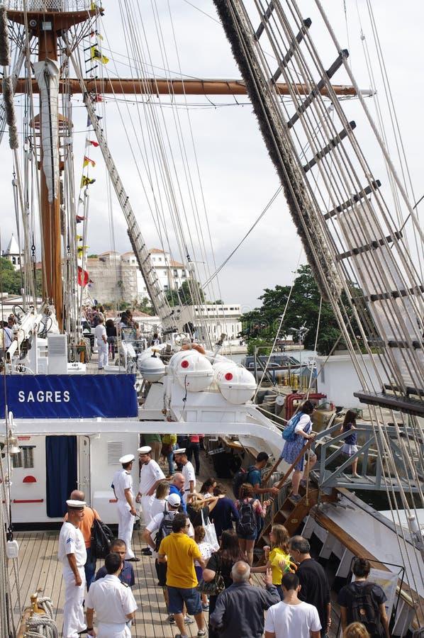 Portugees高船NRP萨格里什 图库摄影