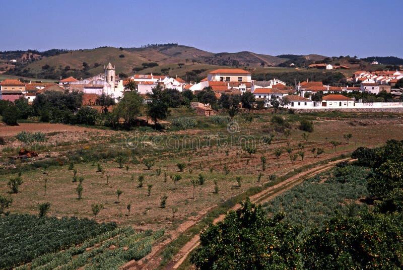 Portugees dorp, Kerstman Clara-a-Velha, Portugal. royalty-vrije stock afbeelding