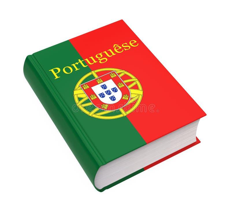 Portugees Geïsoleerd Woordenboekboek stock illustratie
