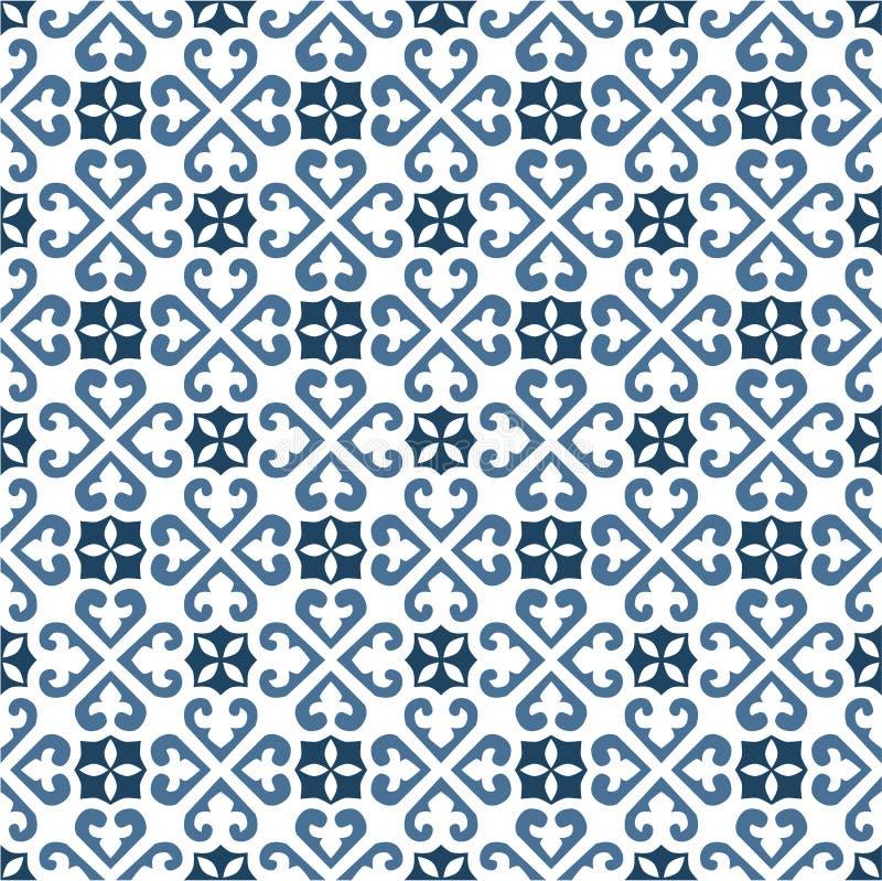 Portugees tegelspatroon vector illustratie