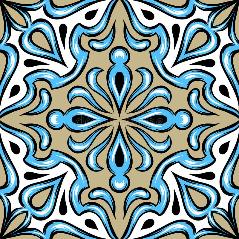Portugese azulejokeramische tegel stock illustratie