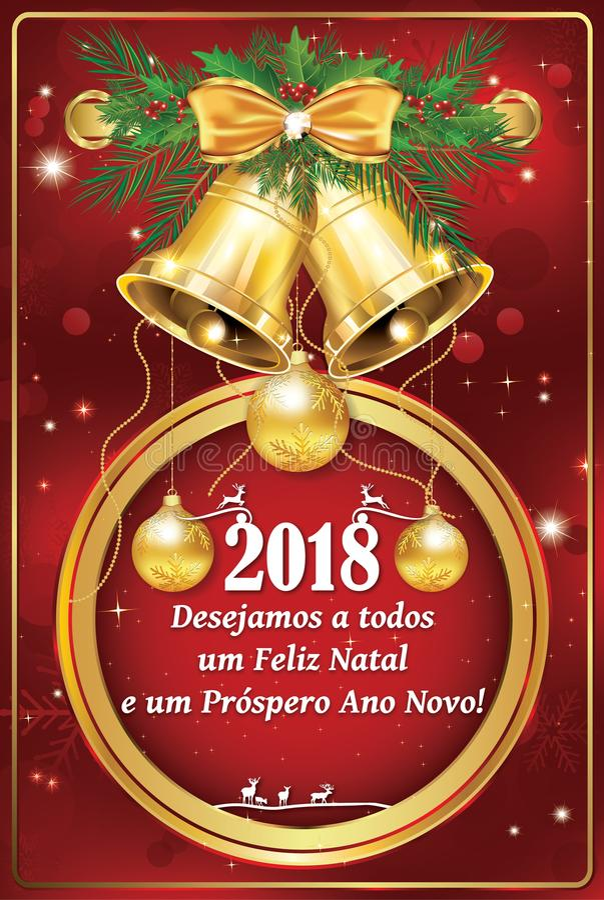 Portugese bedrijfsseizoen` s groeten - Nieuwjaarskaart vector illustratie