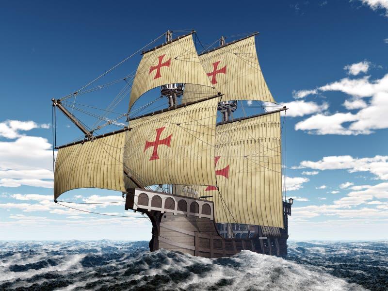 Portugese caravel vector illustratie