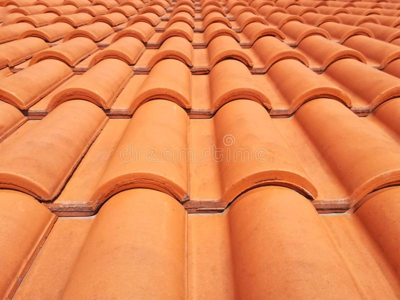 Portugese daktegels die in bouw enz. worden gebruikt ! royalty-vrije stock afbeeldingen