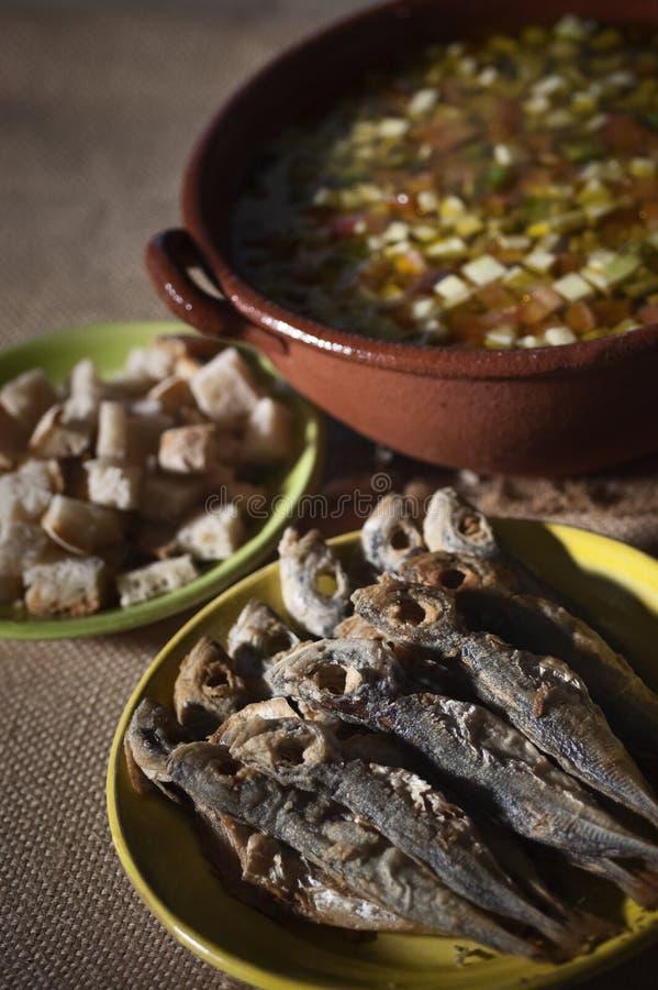Portugese gaspacho stock afbeeldingen