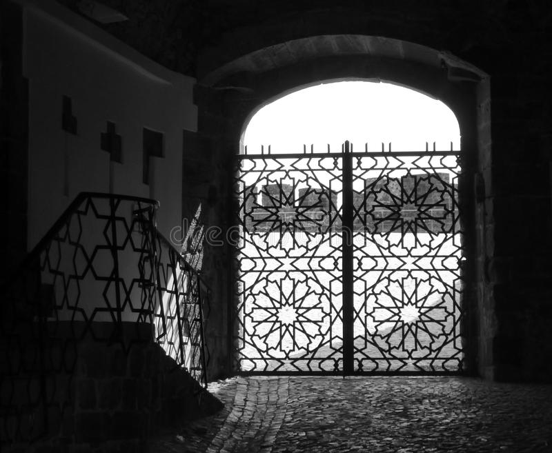 Download Portugese gate stock photo. Image of black, deco, work - 39505318