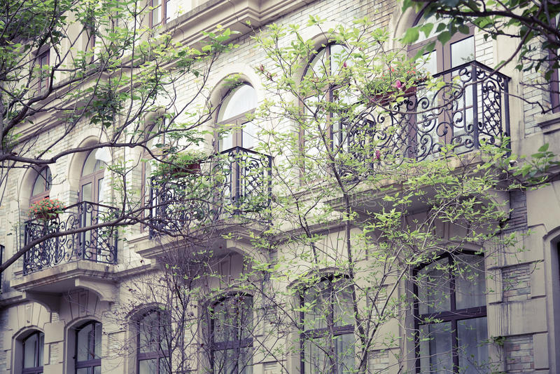 Portugese Retro architectuur royalty-vrije stock afbeelding