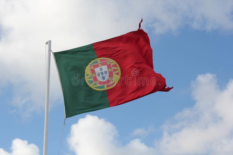 Portugese Vlag stock afbeelding